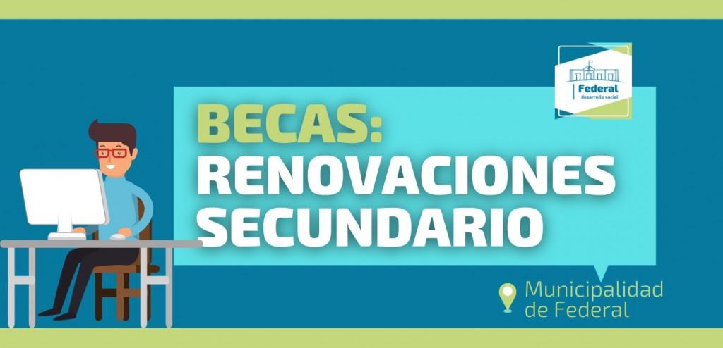 Becas Municipales : Renovaciones Secundario