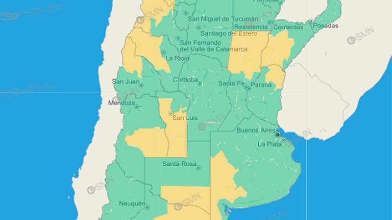 Pronóstico de lluvias: emitieron alerta por tormentas para zona de Entre Ríos