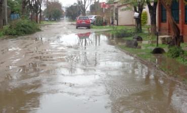 Las consecuencias de las últimas lluvias en las calles de Federal