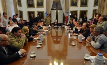 El gobierno entrerriano coordina acciones por la crecida del Paraná
