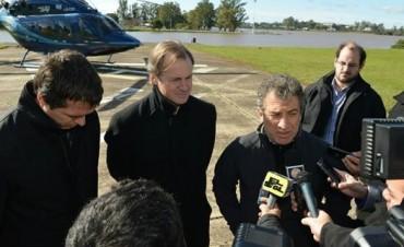Sergio Urribarri coordina las acciones en Concordia por la crecida del Uruguay