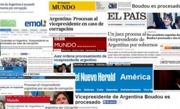 Procesamiento de Boudou: El reflejo de los medios en el mundo