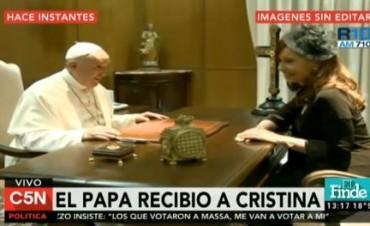 Cristina se reunió con el Papa Francisco