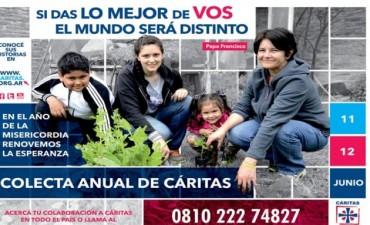 Este fin de semana se realiza la colecta anual de Cáritas en todo el país