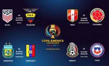 Así quedaron los cruces de Cuartos de Final de la Copa América Centenario