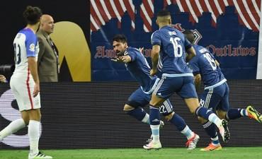 Argentina goleó a Estados Unidos y es finalista de la Copa América Centenario