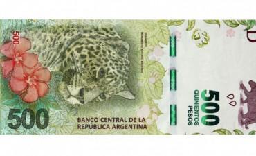 Este jueves entra en circulación el billete de $500