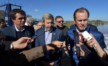Bordet y Frigerio recorrieron las zonas afectadas por la crecida del río Uruguay