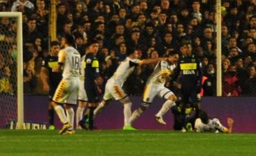 En la fiesta de Boca campeón, Olimpo celebró el empate