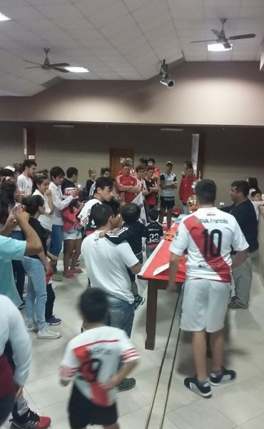 Llego la muestra de las Copas obtenidas por River Plate