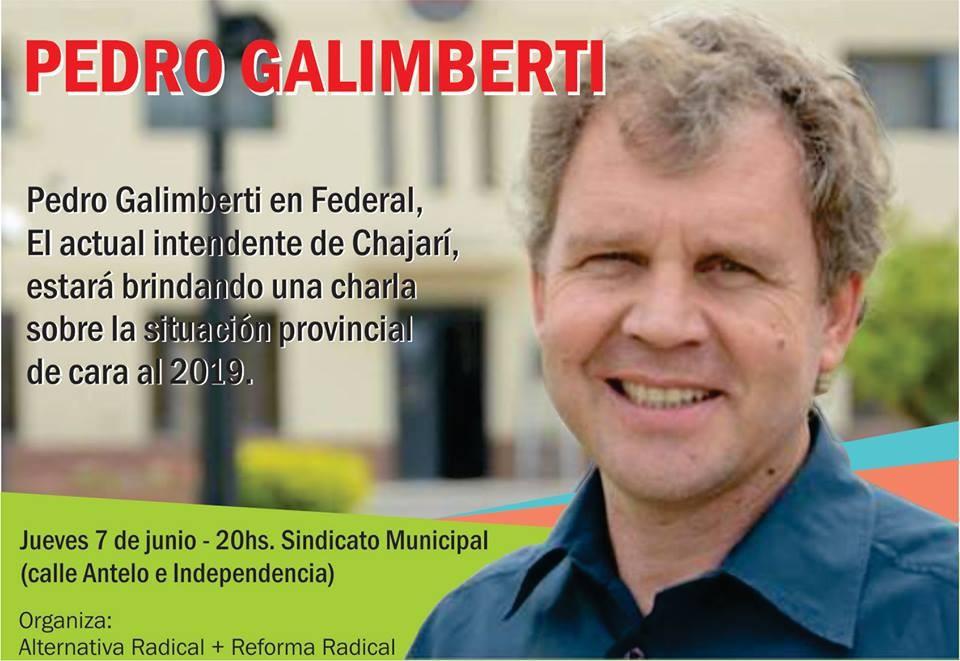 Pedro Galimberti en Federal
