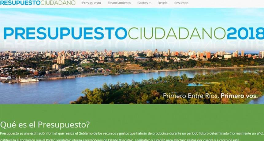 A través de un sitio web, se puede conocer el Presupuesto provincial