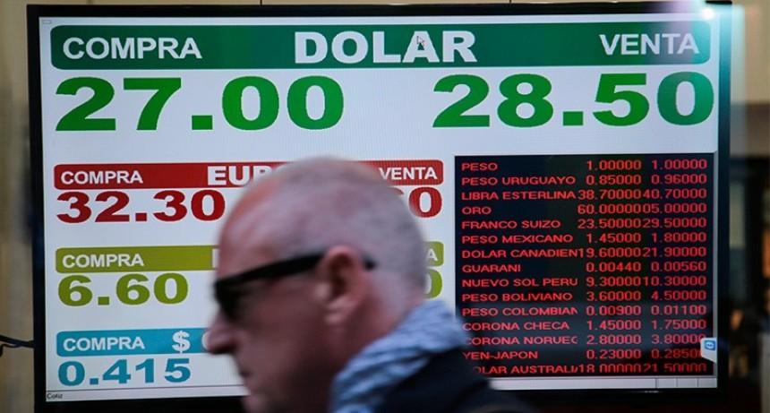 Dólar imparable: Se disparó $1,74 y cerró a $ 28,42 sin intervención del Central