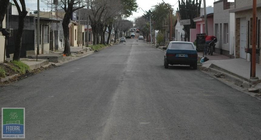Calles con nuevo asfalto : Cuneo - Belgrano e Yrigoyen