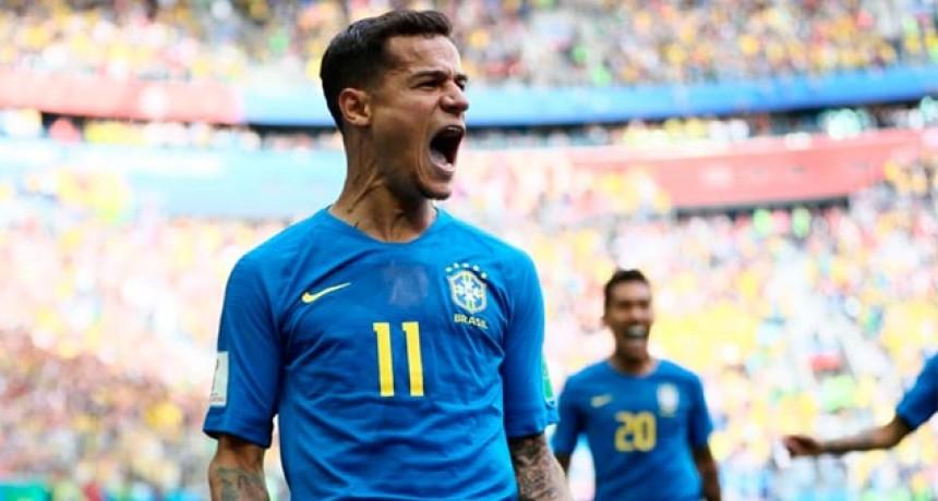 Brasil le ganó en el final a Costa Rica y puso un pie en octavos de final