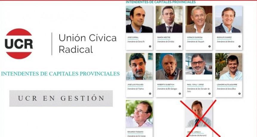 La UCR eliminó a Varisco de la nómina de gobernantes radicales