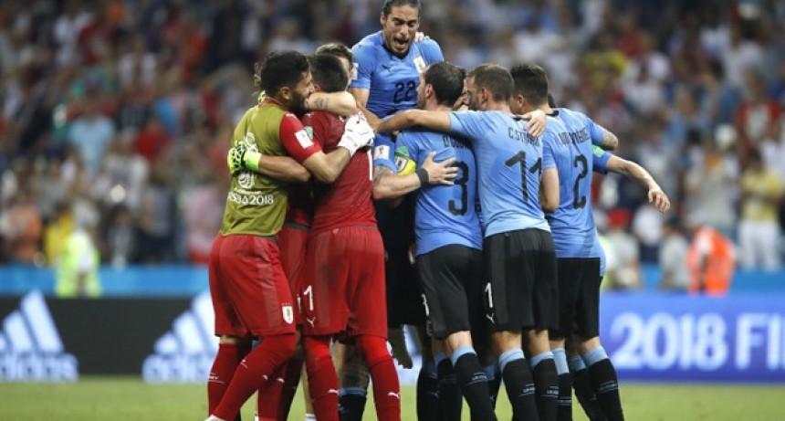 Uruguay eliminó a Portugal y se metió en Cuartos de Final