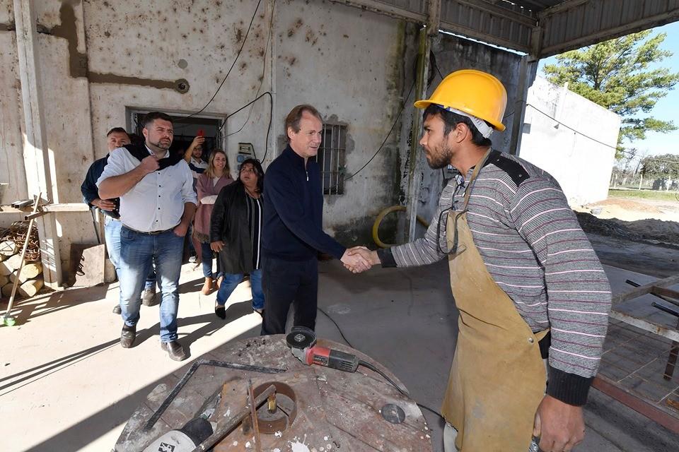 El Gobernador visito las instalaciones del futuro centro.- cívico de Federal