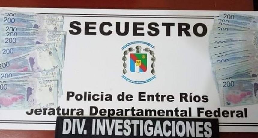 Robo esclarecido ,secuestran dinero y a disposición de Fiscalia el autor