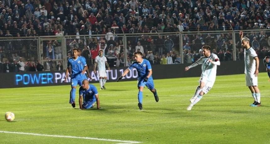 En su despedida del país, la Selección Argentina goleó a Nicaragua