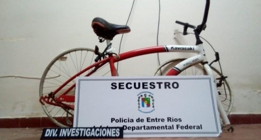 Recuperan dos bicicletas que fueran robadas
