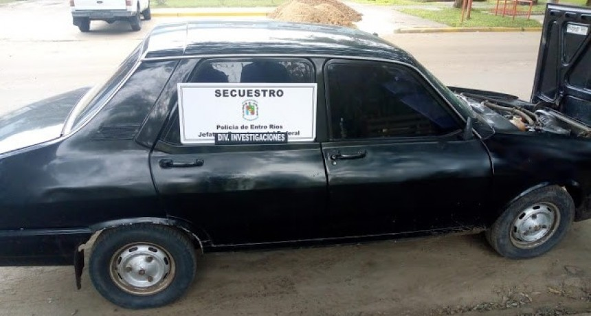 Automóvil adquirido en Chajari presentaba adulteracion  de chasis