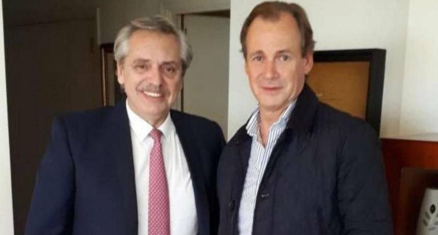 """""""Gracias Bordet por tu apoyo"""", afirmó Alberto Fernández tras un encuentro con el gobernador"""