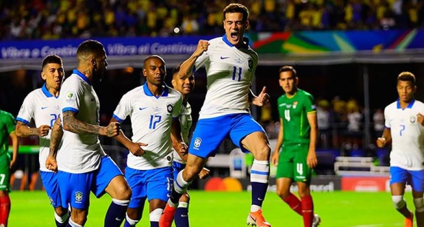 Brasil goleó a Bolivia en el primer encuentro de la Copa América 2019