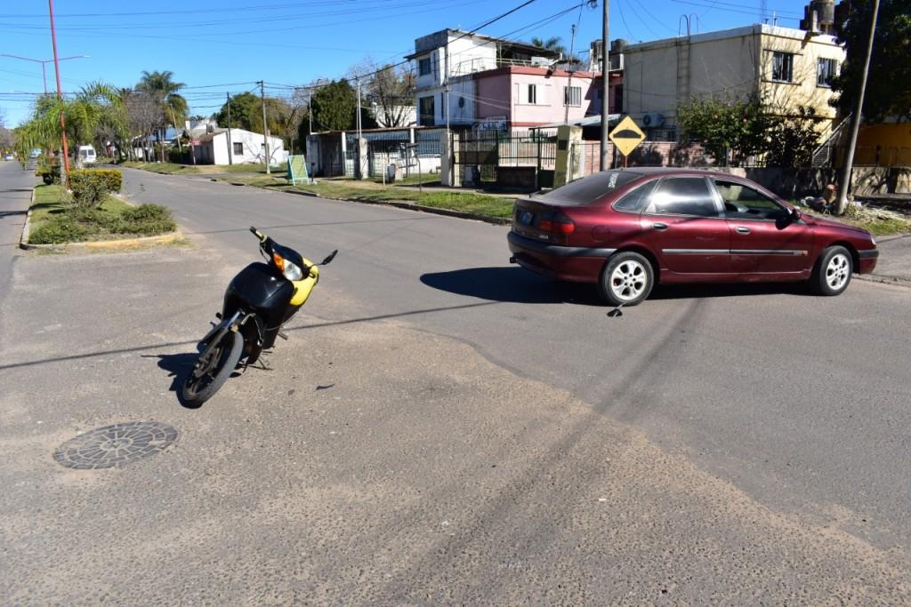 Accidente de transito en calle Parana