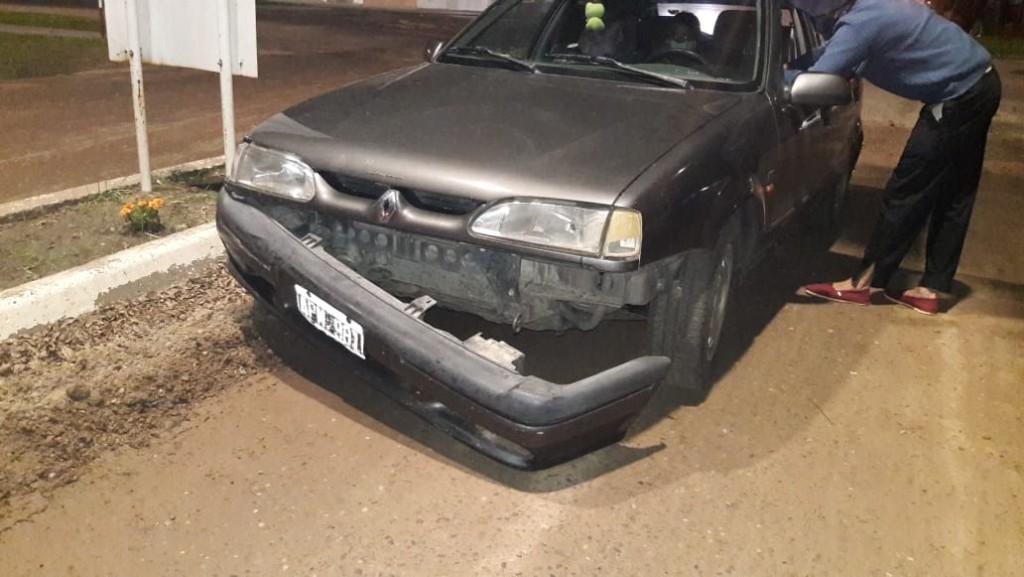 Accidente de transito entre dos automóviles