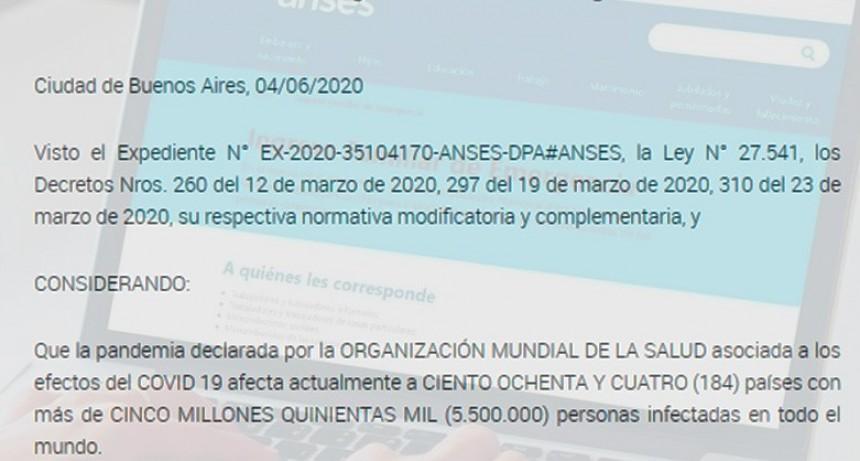 Oficializaron el segundo pago del Ingreso Familiar de Emergencia