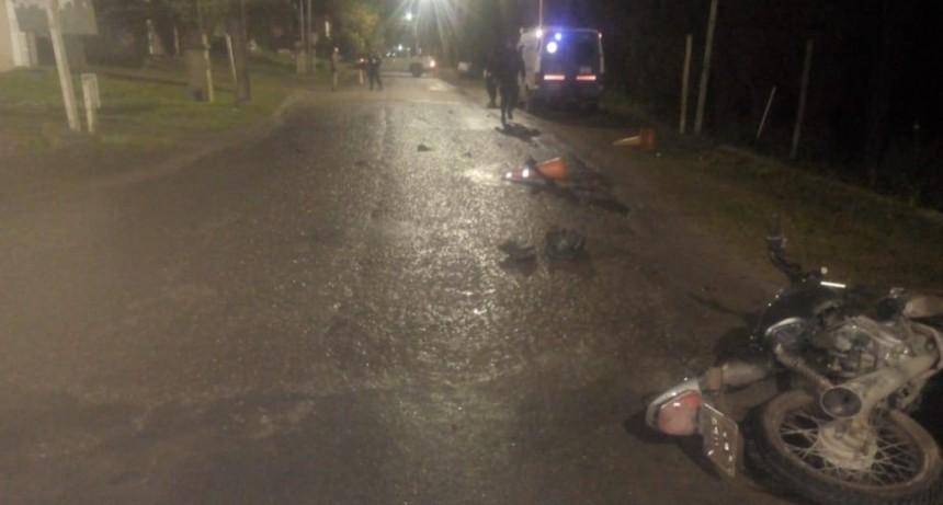 Accidente con dos policías lesionados