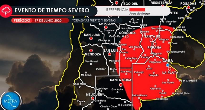 Alertan por vientos intensos en Entre Ríos y tormentas severas hacia la noche