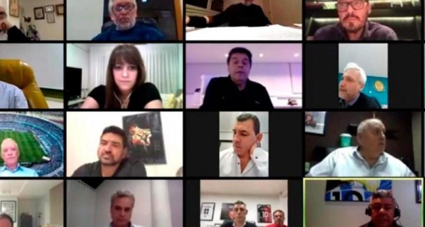 Liga Profesional: Intercambios de ideas y algunas discusiones en la primera reunión virtual