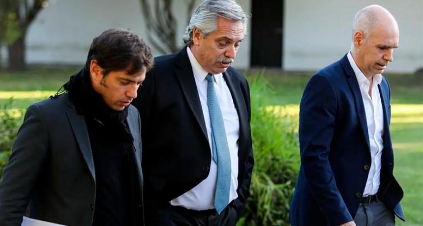 Fernández se reunió con Kicillof y Larreta: Cómo seguirá la cuarentena en AMBA