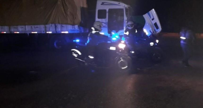 Sauce de Luna : Gendarmeria secuestro estupefacientes en un camión .