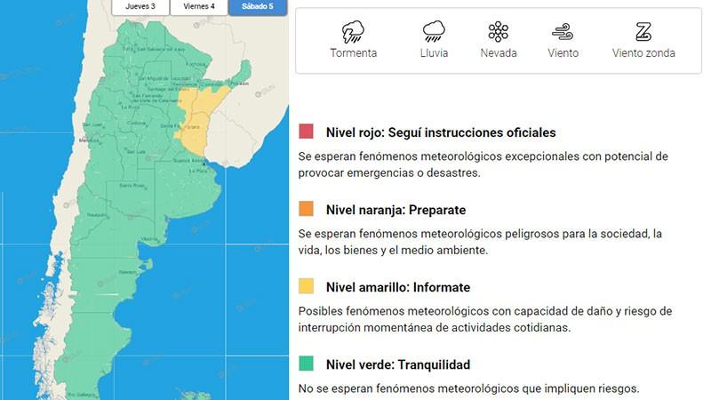 Alertan por tormentas para Entre Ríos y otras provincias: cuándo se producirían