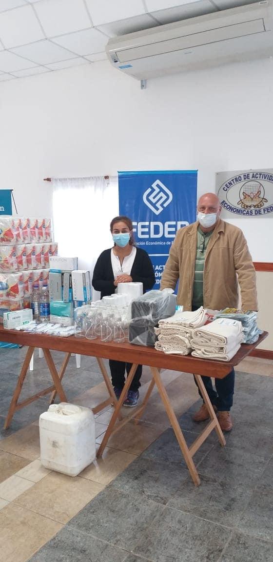 Entregaron donación de insumos al Hospital Urquiza de Federal