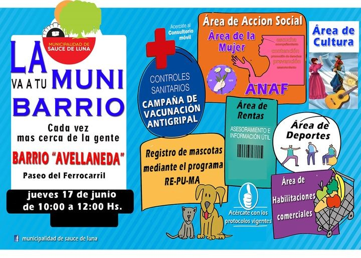 """ATENCIÓN BARRIO AVELLANEDA """"LA MUNI VA A TU BARRIO"""""""