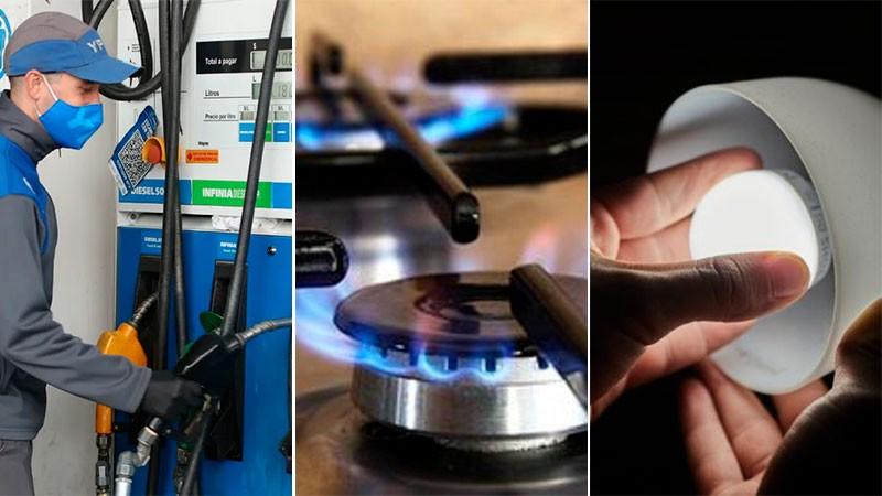 Ratifican que no habrá subas de luz, gas y combustibles en lo que resta de 2021