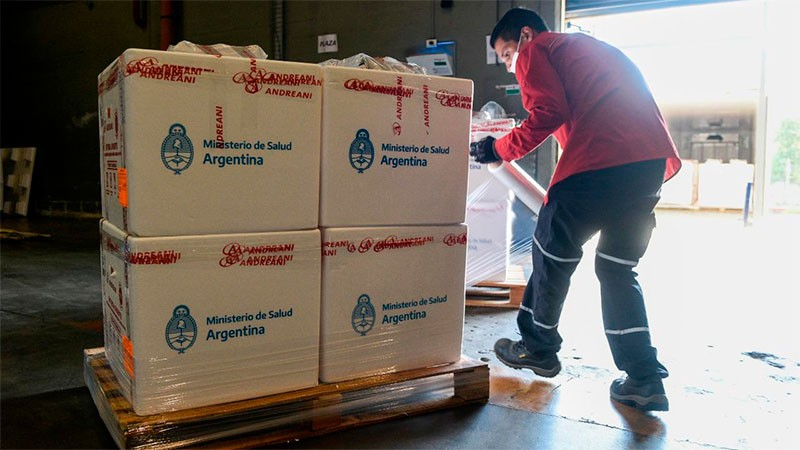 Entre Ríos recibirá 23.200 dosis de las vacunas de Sinopharm que llegaron este lunes