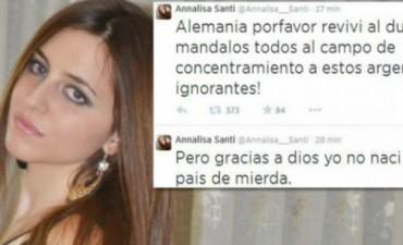 Annalisa Santi descargó su furia contra Argentina