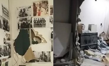 Ataque en Tiempo Argentino: patota echó a periodistas y provocó destrozos