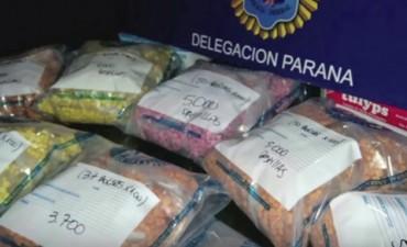 Son 67.187 las pastillas de éxtasis incautadas en dos operativos en Paraná