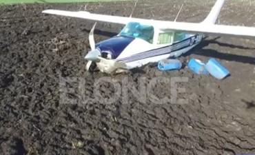 Imágenes: Confirman que llevaba droga la aeronave hallada en un campo