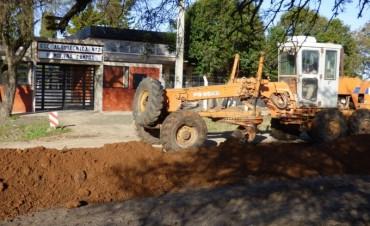 Comenzaron las obras de enripiado de acceso a la Escuela Agrotecnica