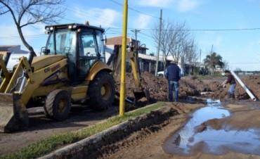 Avanza la obra de ampliación cloacal en Barrio Las Flores