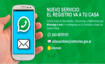 Actas de nacimiento, defunciones y matrimonios se pueden solicitar por whatsapp