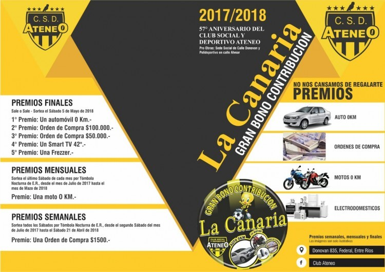 Ya esta a la venta La Canaria 2017 /18