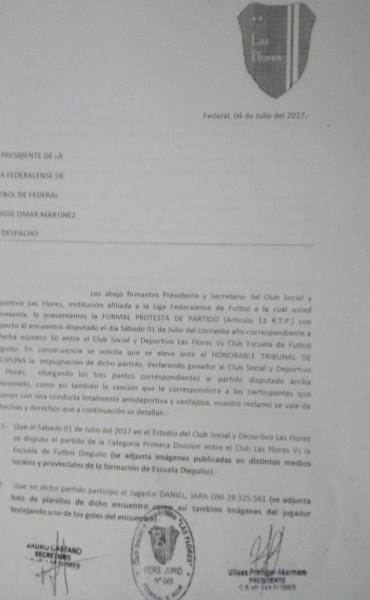 Esta es la presentación oficial de la Protesta del Club Las Flores .Para el Presidente del Club de Sauce de Luna